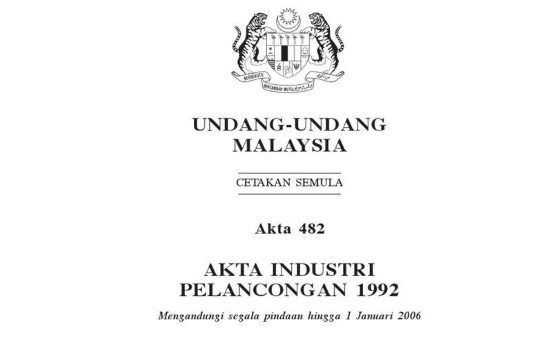 Jadual Akta Industri Pelancongan 1992