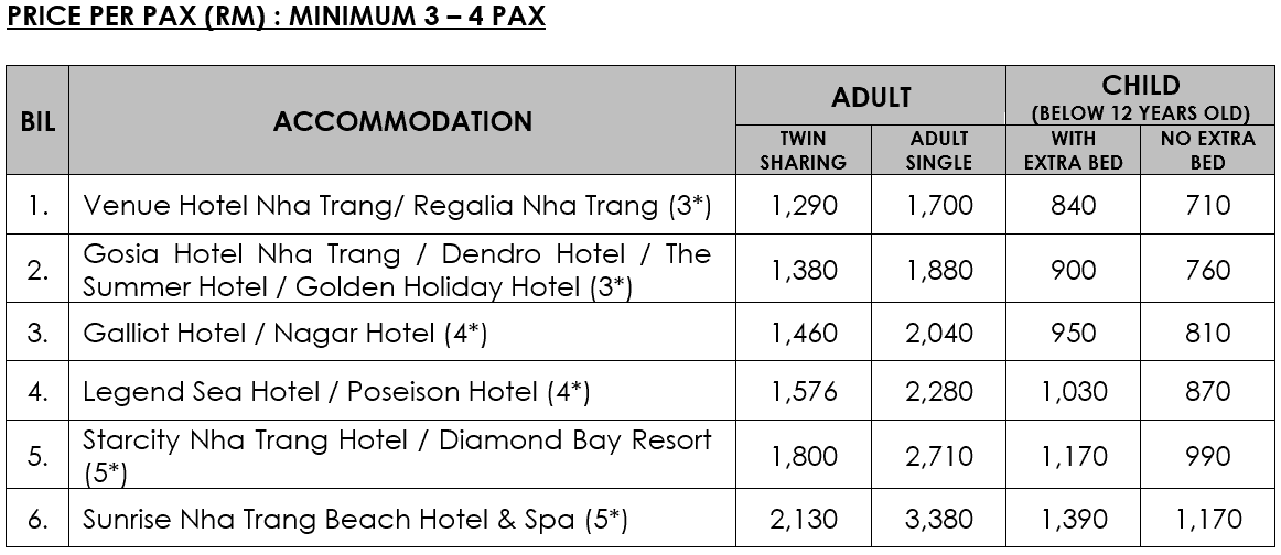 4D3N EXQUISITE NHA TRANG TOUR