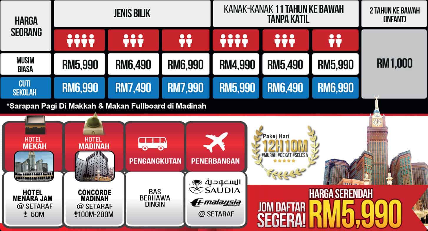 Umrah Menara Jam oleh MKM Ticketing Travel & Tours